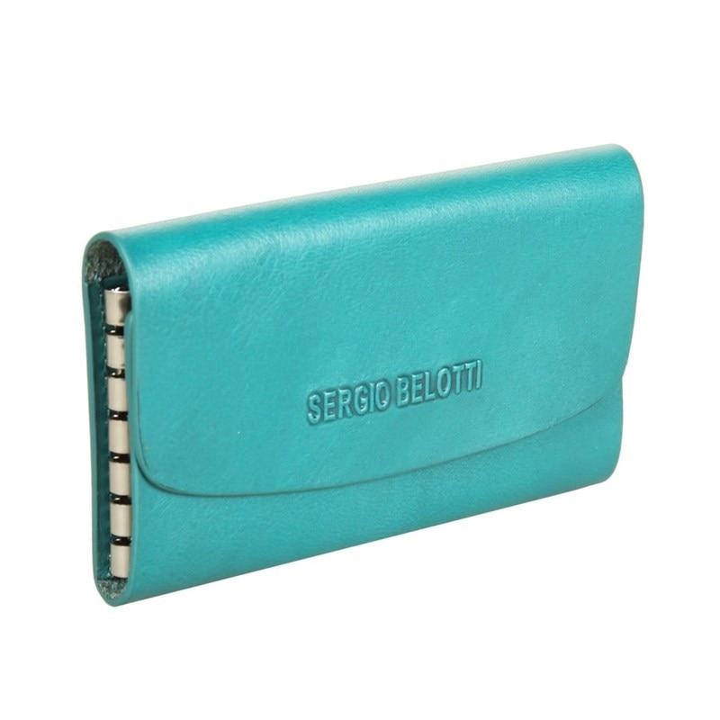 Key Wallets SergioBelotti 3524 IRIDO acqua genodern double zipper men wallets with phone bag vintage genuine leather clutch wallet male purses large capacity men s wallets