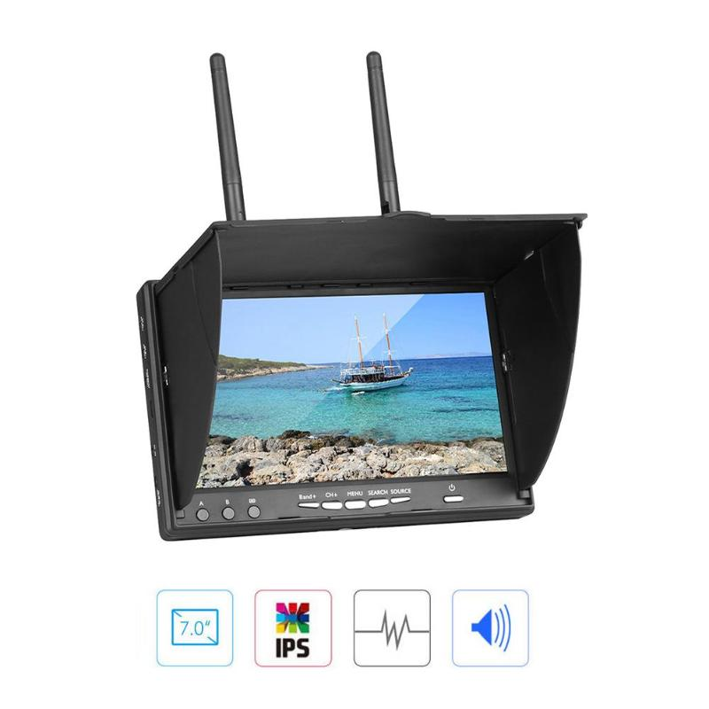 7 Inch LCD Screen FPV Monitor 5 8G 40CH LED Backlight Multicopter TFT with Build in