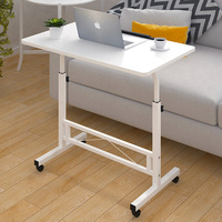 Foldable Computer Table Adjustable Portable Laptop Desk Rotate Laptop Bed Table Can be Lifted Standing Desk 80*40CM