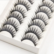 10 Pairs Luxurious 3D False Eyelashes Cross Natural Eye Lashes Make up New