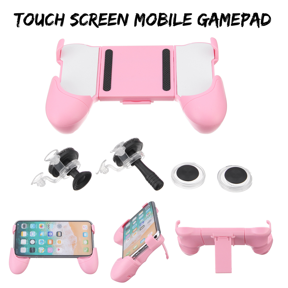 Remote Sensing PUBG Mobile Controller Gamepad + 2X 3D Gamepad Joysticks With Suc