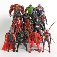 Marvel Avengers Venom Carnage Spiderman Thanos Thor Deadpool Hulk Hulkbuster Iron Man Black Panther Action Figure Toys 14pcs/set