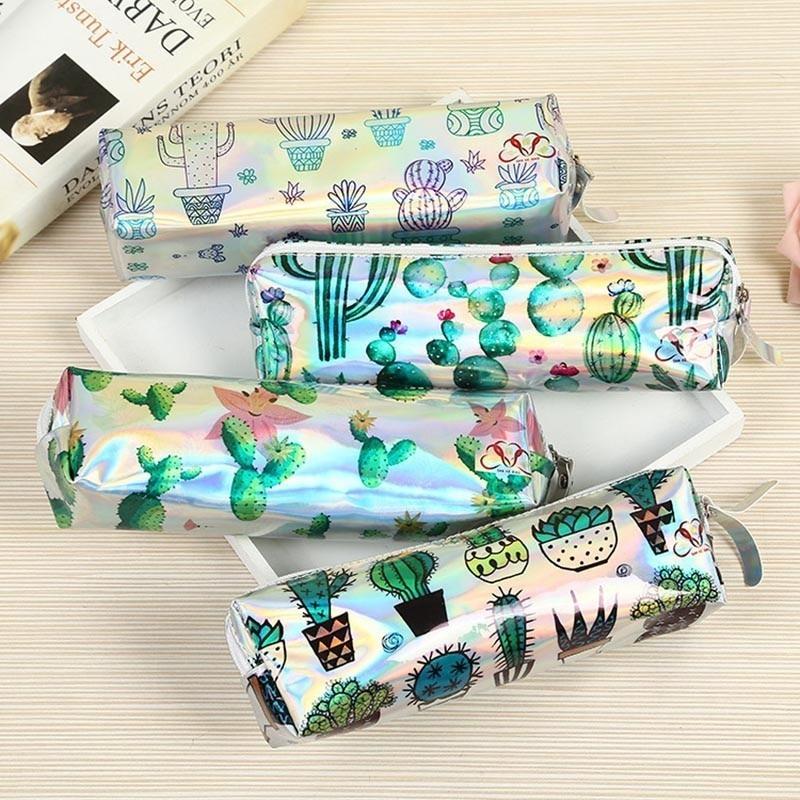 1 PC Cute Cactus Pencil Case Bags Kawaii Cartoon School Pen Box Pouch Creative Student Gift Stationary Office Supplies 05076