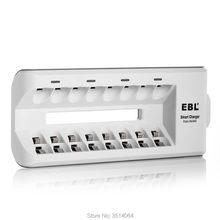 EBL 8 Bay AA AAA NiMH NiCd, перезаряжаемый аккумулятор зарядное устройство