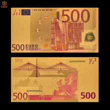 Горячая продукта золото Colorful красочные 500 евро Позолоченные бумажные банкноты для коллекции и домашнего декора подарки