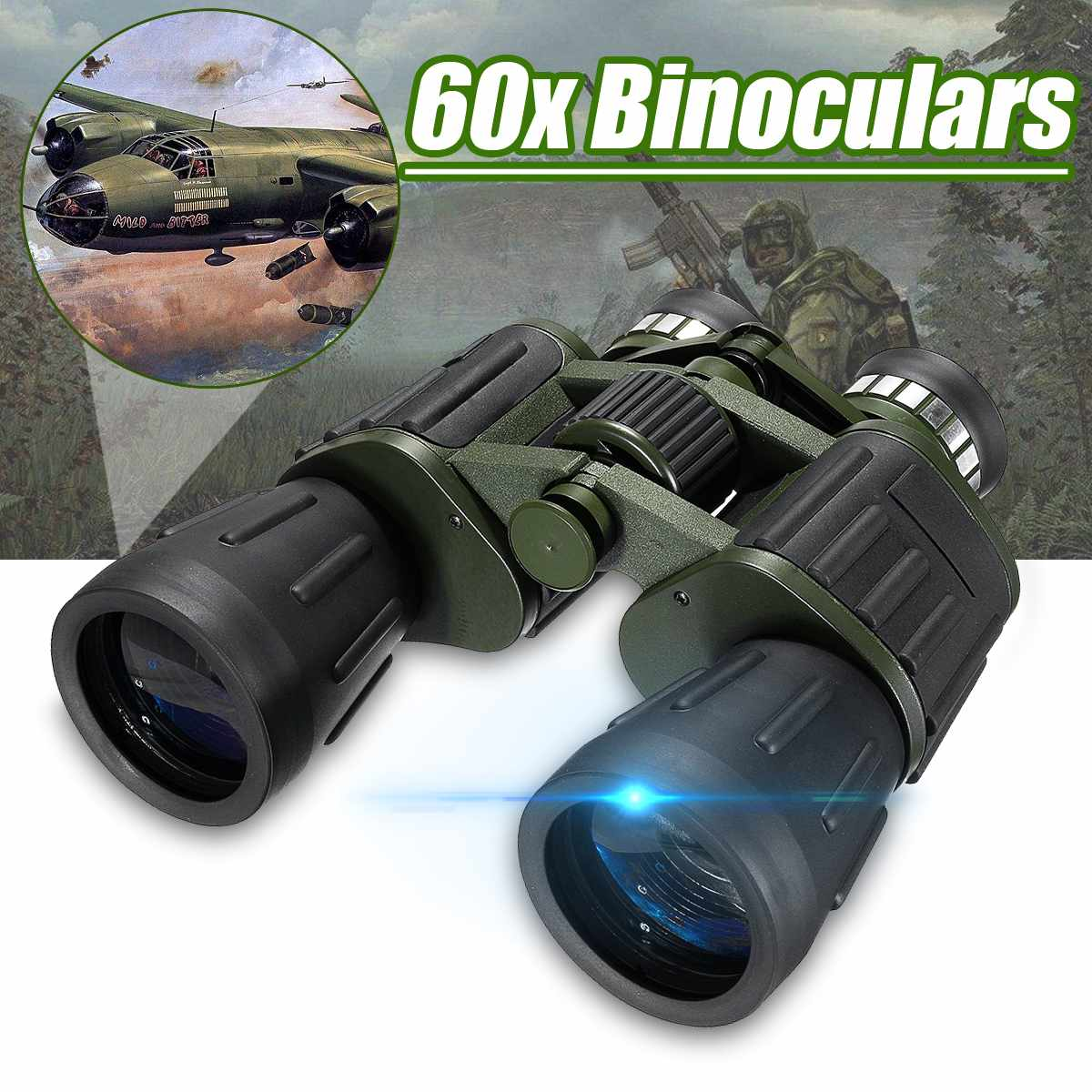 2019 New Arrival 50x60 Binoculars Zoom Field glasses Great Handheld Telescopes DropShipping for Outdoor Camping High Definition