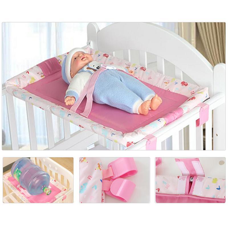 Table à langer bébé ceinture de sécurité pliable confortable Table de soins infirmiers pour bébé housse de protection pour matelas à langer Table de sécurité berceau spécial