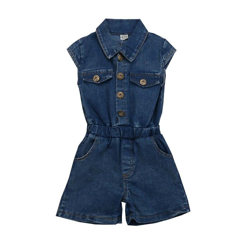 d4c81b030456 2 7Years Toddler Kid Baby Girls Clothes Denim Jumpsuit Sleeveless ...