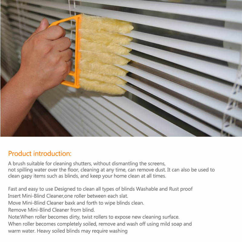 Blind Curtain Villus Brush Window Cleaning Brush Window Cleaning Brushes Washable Portable Microfiber Kitchen Accessories 1 PC