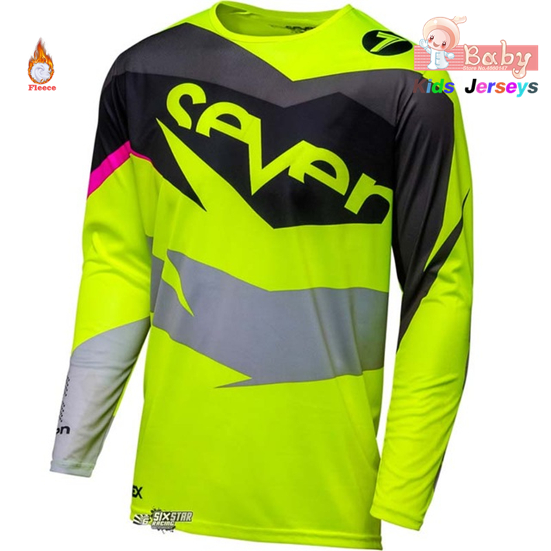 2018 Winter Fleece Kids Motocross Jersey Downhil Mountain Bike DH Shirt Motorcycle  Clothing Ropa for Boys 7dc86df48