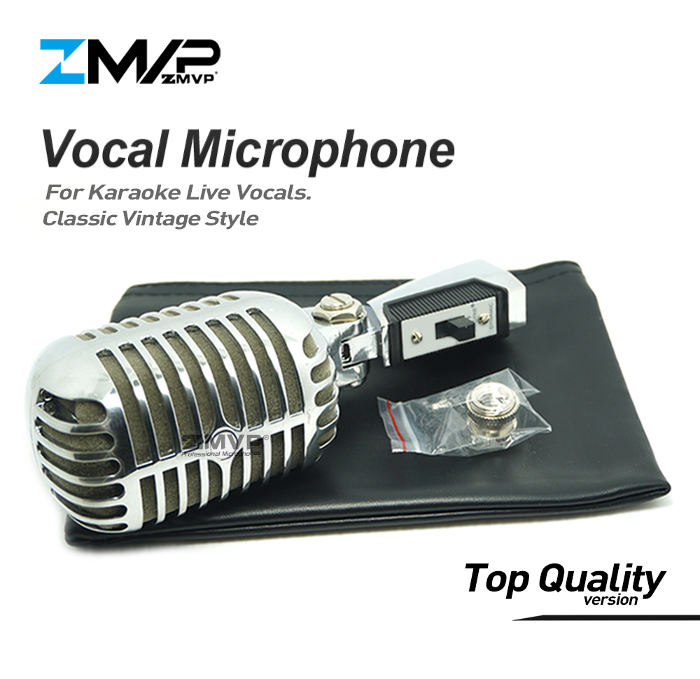 цена на Professional 55 SH Classic Vintage Style Live Vocals Dynamic Microphone Karaoke 5SH Wired Microfone Stage Microfono Mike Mic
