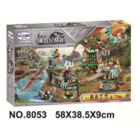 WM 8053 1000pcs Capture The Dinosaurs Of Jurassic World Building Blocks Educational Toys Kids Compatible With Lms