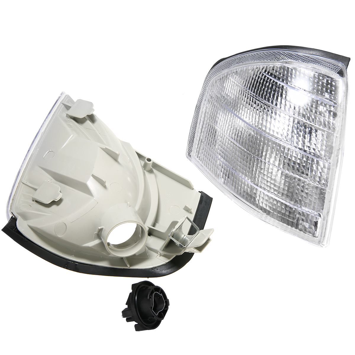 Image 2 - For Mercedes Benz C Class W202 1994 2000 1 Pair Clear Lens Turn Signal Corner Light Lamp Car Styling-in Signal Lamp from Automobiles & Motorcycles