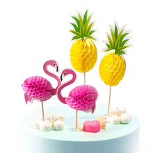 Baking Cake Fashion Cake Topper Wedding Flamingo HOT DIY Party Cupcake Insert Card Decorations Baby Shower Pineapple Birthday(China)