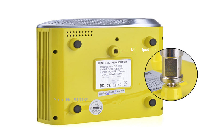 mini projector yellow pic 6