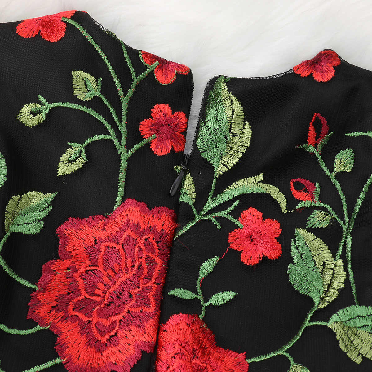 6M-5T Toddler Embroidered Rose Flower Kids Dress Baby Girls Pageant Bridesmaid Princess Formal Dress