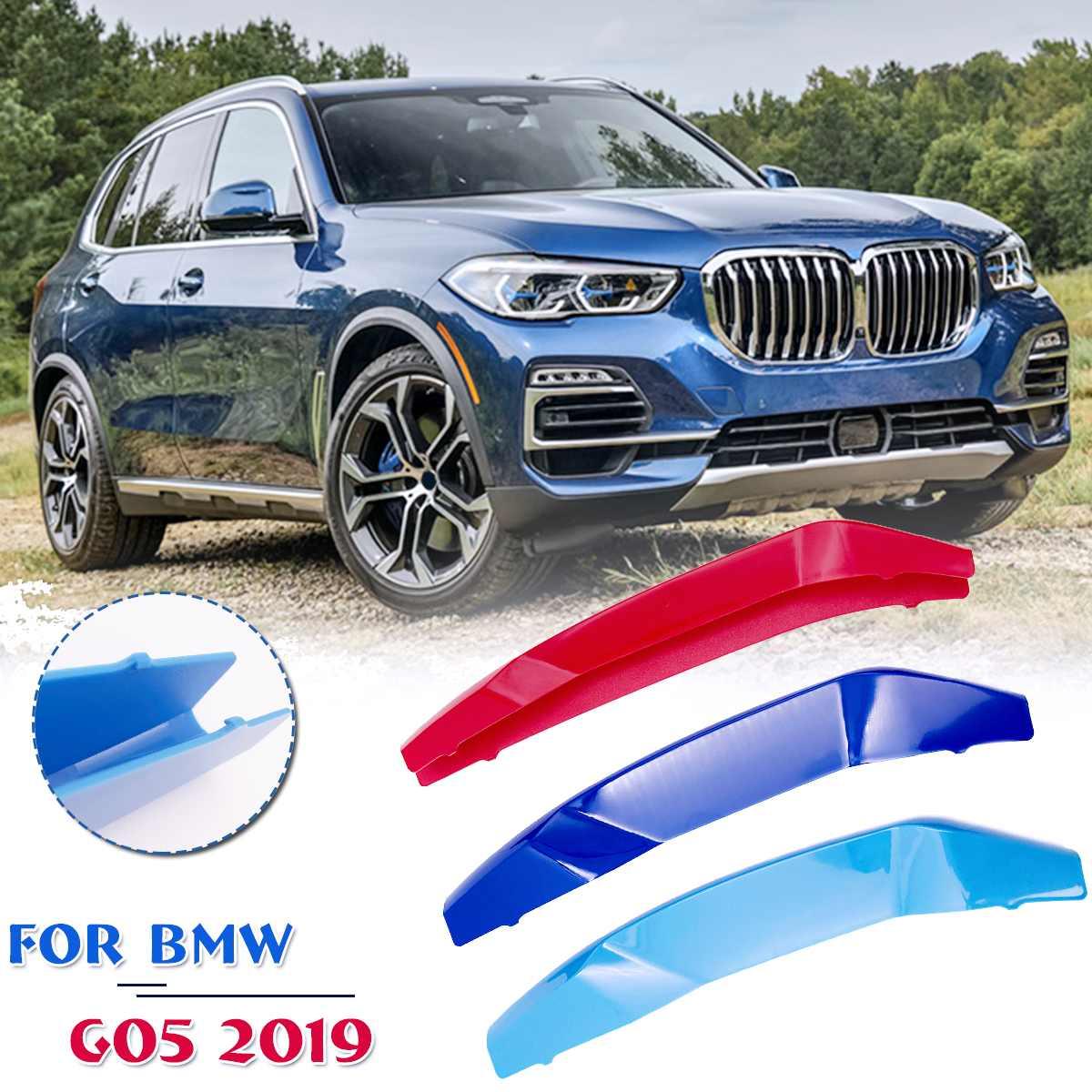 Autoleader 3 Colors For BMW X5 G05 2019 M-Tech Sport Kidney Grille 3 Tricolor Grille Cover Clips Trim