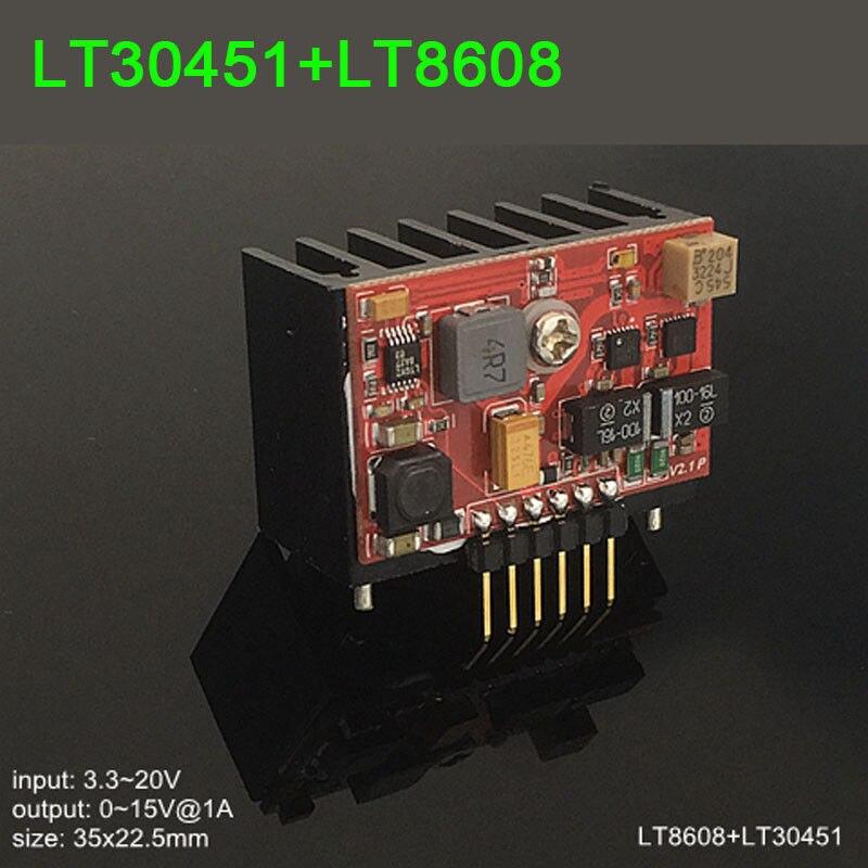 LT30451 + LT8608 Module d'alimentation linéaire à faible bruit RF DAC Audio ADC