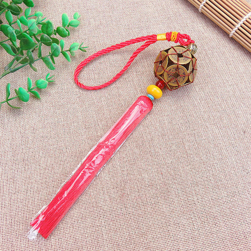10 Pcs Chinese Knots Tassel Blessing Rich Lucky Fortune Copper Cash Chinese Arts and Crafts Gifts Hang Decorations Pendant 2018 in Tassel Fringe from Home Garden