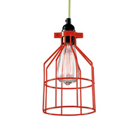 Industrial Vintage Iron Cage Hanging Ceiling Pendant Light Holder Lamp Shade New
