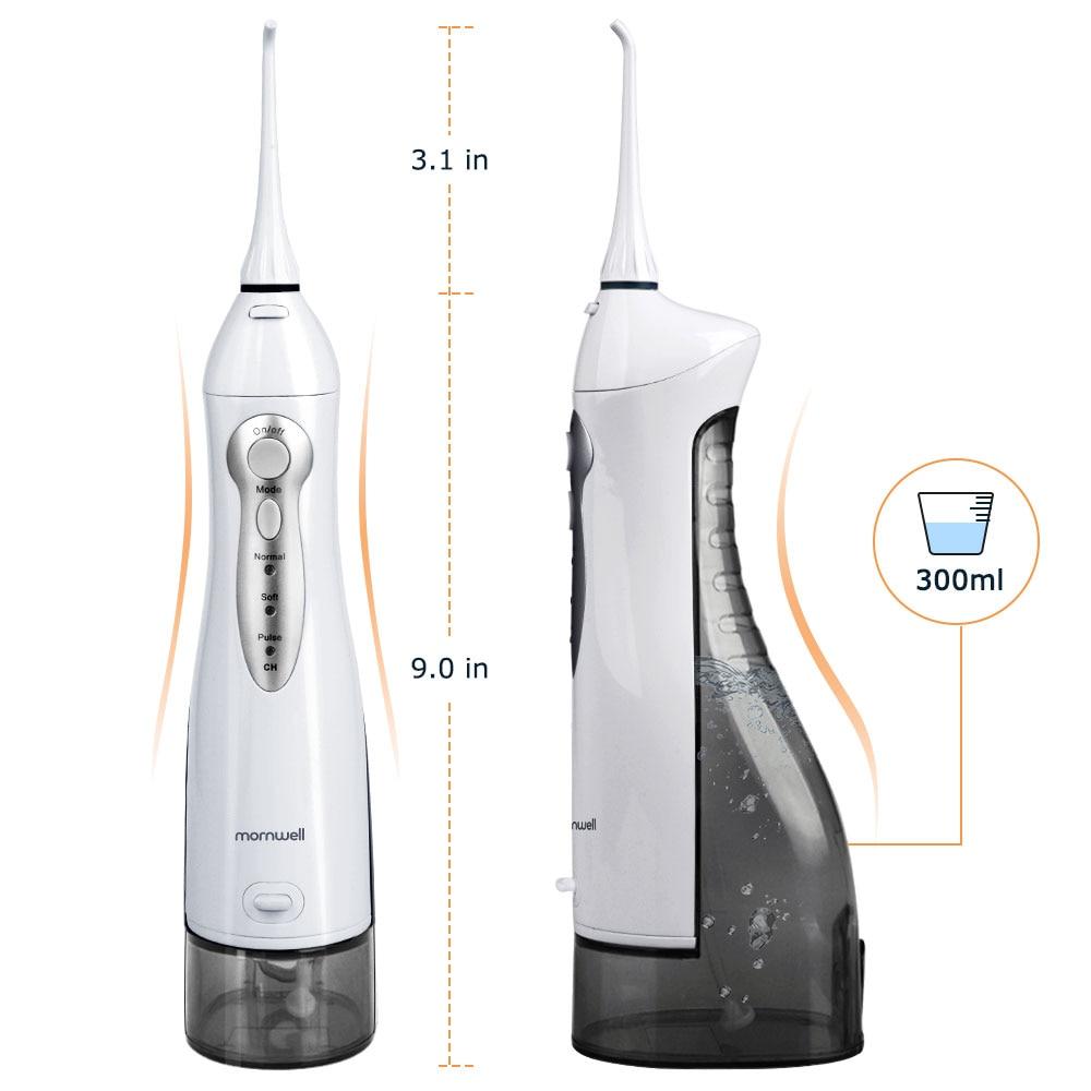 Oral Irrigator USB Rechargeable Water Flosser Portable Dental Water Jet 300ML Water Tank Waterproof Teeth Cleaner 5