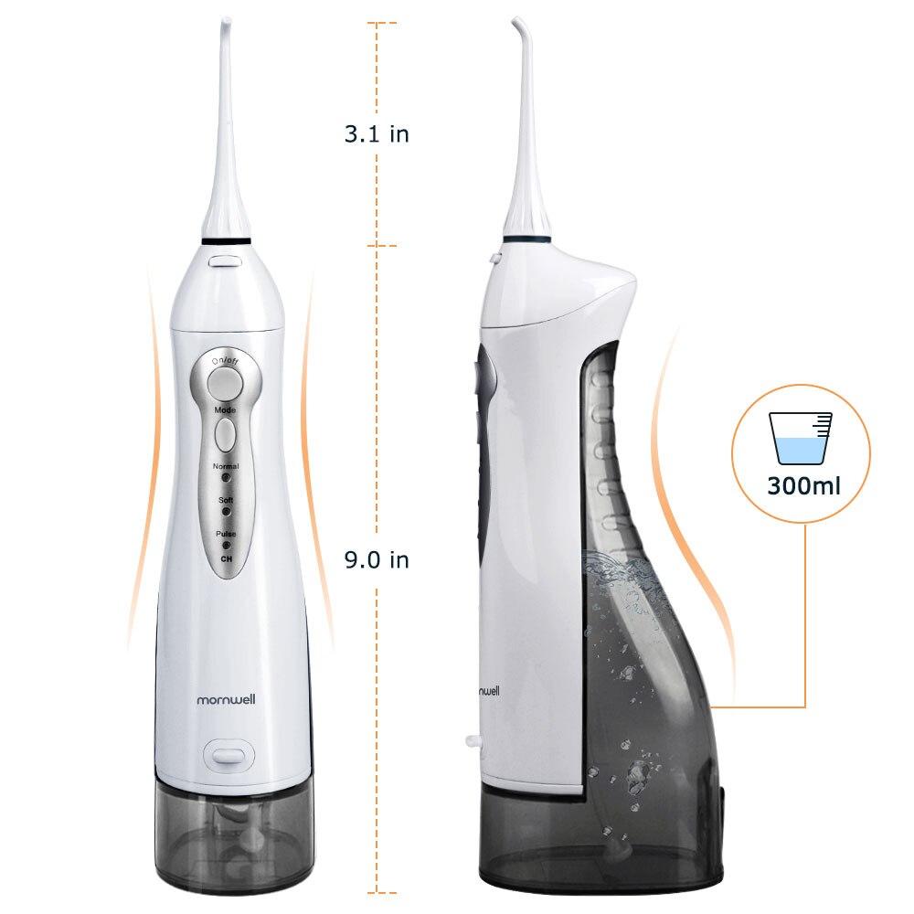 Irrigateur Oral USB Rechargeable eau Flosser Portable dentaire Jet d'eau 300ML réservoir d'eau étanche dents nettoyant - 5