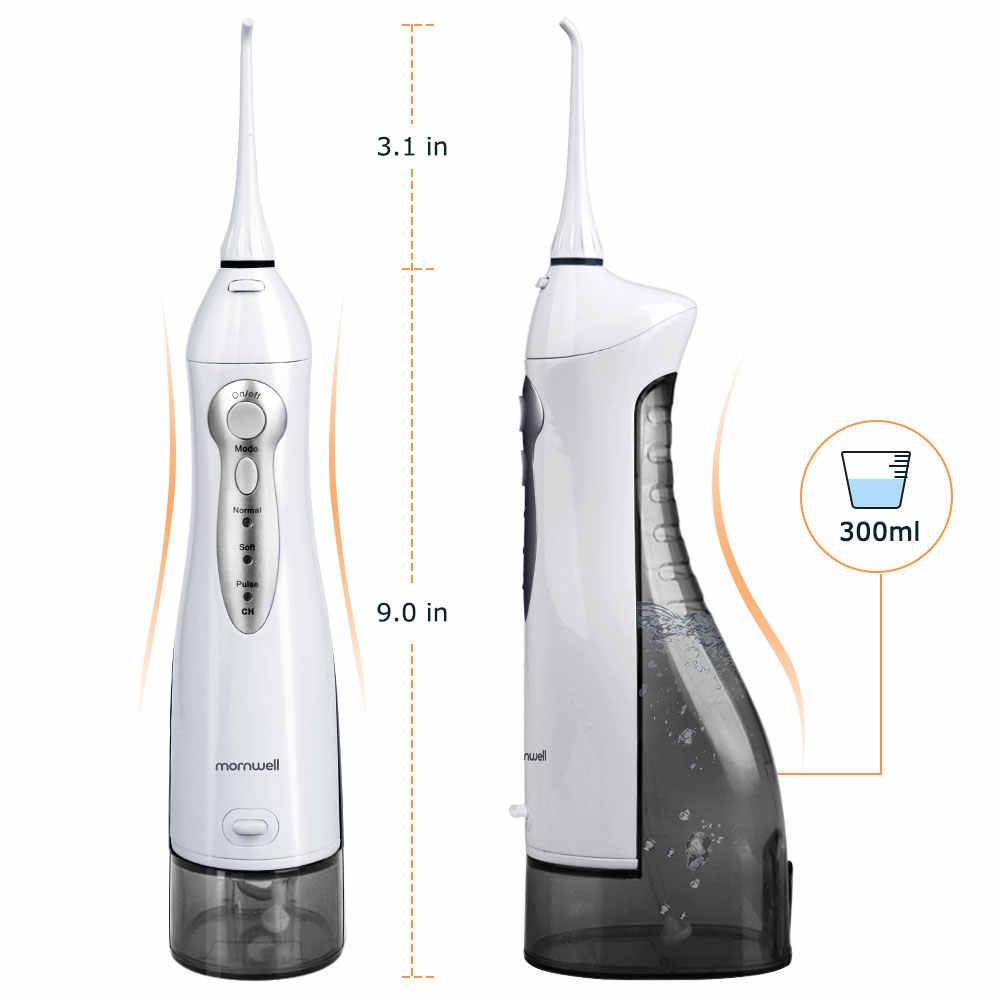 Irygator ustnej USB akumulator flosser irygator wodny przenośny Dental Water Jet 300ML wody zbiornik wodoodporny do czyszczenia zębów
