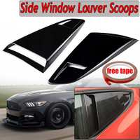 A Pair Car Side Window Quarter Rear Louver Side Vent Scoop Cover Trim For 2015 2017 For Ford For Mustang 2 Door For Coupe Model