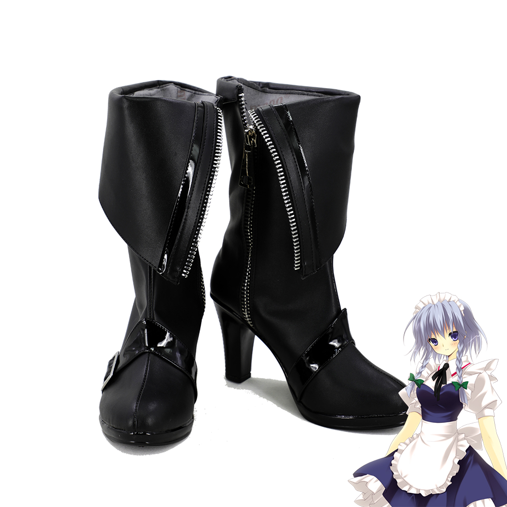 Touhou Project Maid Scarlet Devil Mansion Sakuya Izayoi Cosplay Shoes Women Boots