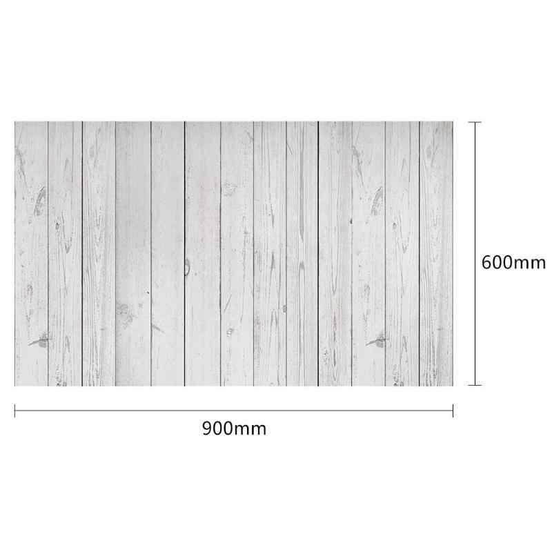 ALLOYSEED 60*90 ซม.Retro Wood BOARD Photo พื้นหลังผ้าศิลปะภาพวิดีโอโต๊ะการถ่ายภาพฉากหลัง Props อาหาร
