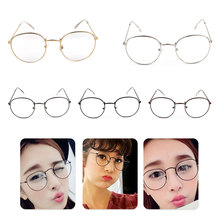 2019 New Classic Vintage Glasses Frame Round Lens Flat Myopia Optical Mirror Simple Metal Women/Men Glasses Frame цена