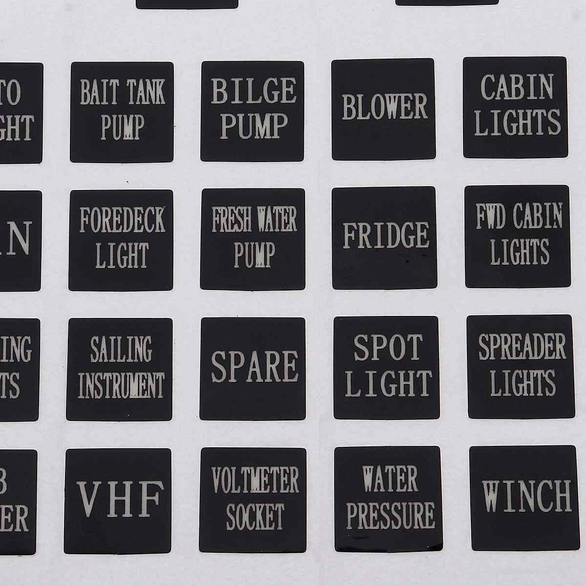 120 Sticker Rocker Switch Label Decal Circuit Panel Luminous Sticker For Car Marine Boat Truck Instrument Switches Relays Decor