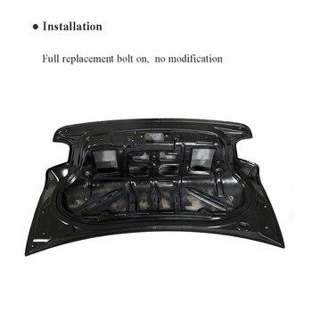 لسيارات BMW F22 F87 M2 قاعدة كوبيه م الرياضة 2 باب 2014-2018 الخلفي الجذع المفسد التمهيد الجناح الشفاه غطاء حقيبة شاحنة ألياف الكربون