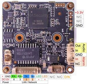 """Image 2 - H.265 5.0mp 1/2. 8 """"sensor de imagem cmos de sony starvis imx335 + 50wx (xm550/ipc550) módulo de placa de pcb de câmera ip cctv (partes opcionais)"""