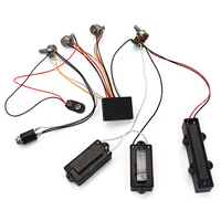 Loaded Wiring Harness Potentiometer 3 Band AMP EQ Preamp Equalizer Pickup for JB PB Bass Guitar Replacement Parts