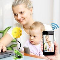 Wireless Baby Monitor Sun Flower WiFi Camera DVR Night Vision Camcorder Mobile Remote Baby Sleeping Monitor Baby Care Monitoring