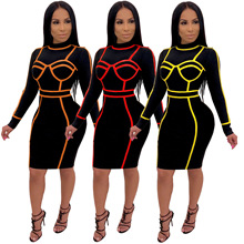 2019 Hot Selling European And American Sell like Cakes Sexy Fashion Midi Women pencil Dress