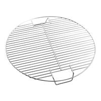 Round barbecue net Stainless steel barbecue net family outdoor portable round roasting net