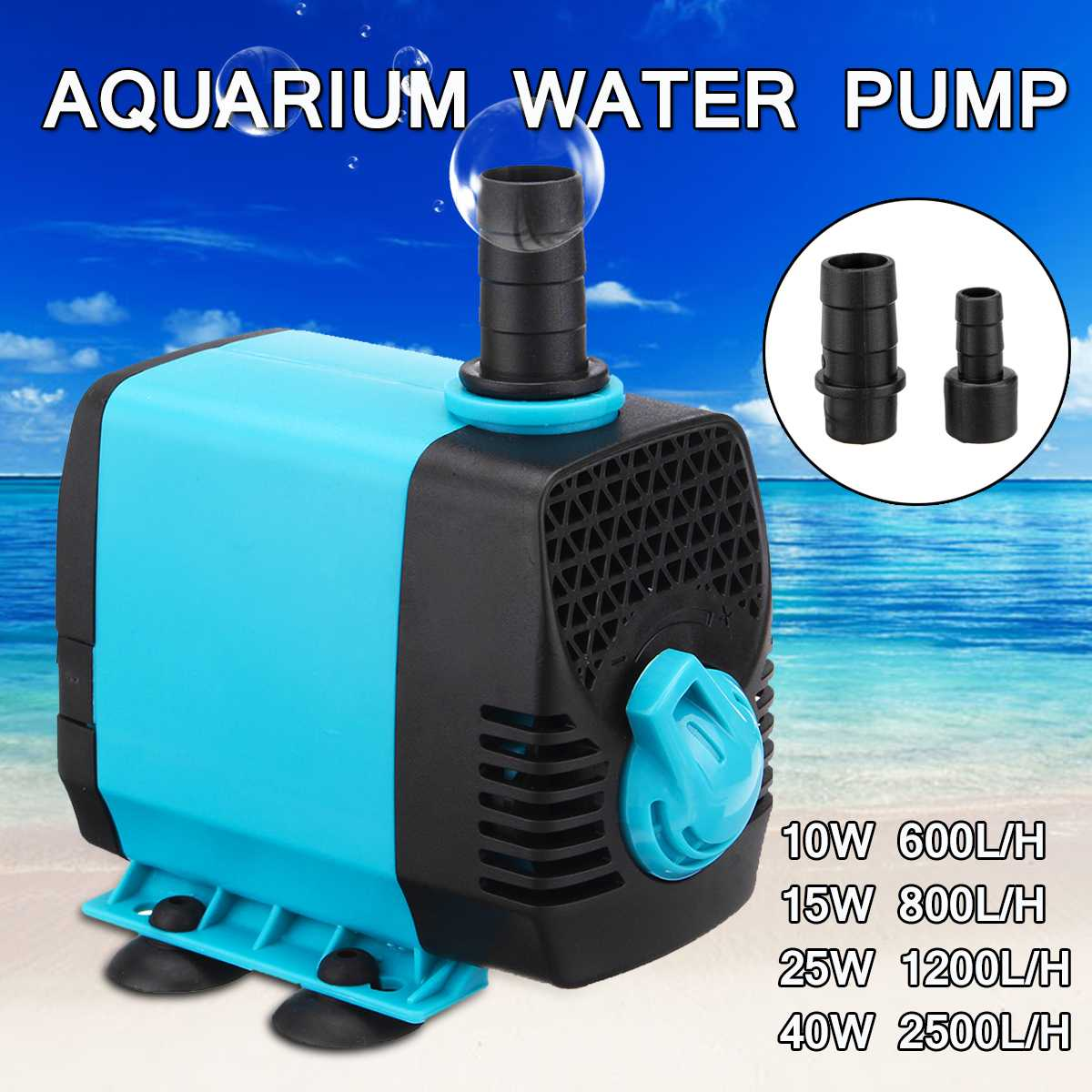 10/15/25/40W 220V Multifunctional Aquarium <font><b>Water</b></font> <font><b>Pumps</b></font> Tank Pond Pool Fountains <font><b>Pump</b></font> Waterproof Submersible Fish Pond <font><b>Water</b></font> <font><b>Pump</b></font> image