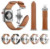 New Watch Bracelet Belt Strap for Apple Watch Band Watchbands 44mm 42mm 38mm 40mm Watch Accessories Wristband Genuine Leather