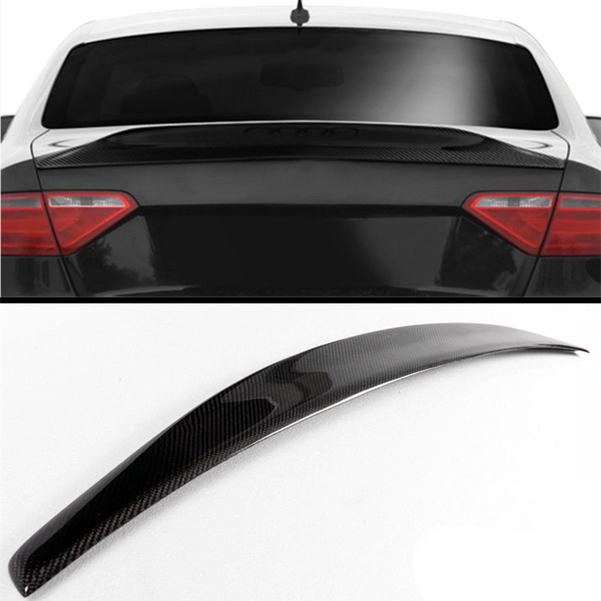 High Quality Cat Style Real Carbon Fiber Trunk Boot Lid Spoiler Wing For Audi A5 B8 B9 08-16 2door For Coupe