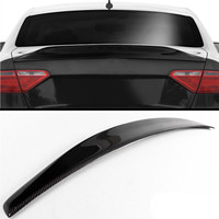 High quality Cat Style Real Carbon Fiber Trunk Boot Lid Spoiler Wing for Audi A5 B8 B9 08 16 2door for coupe