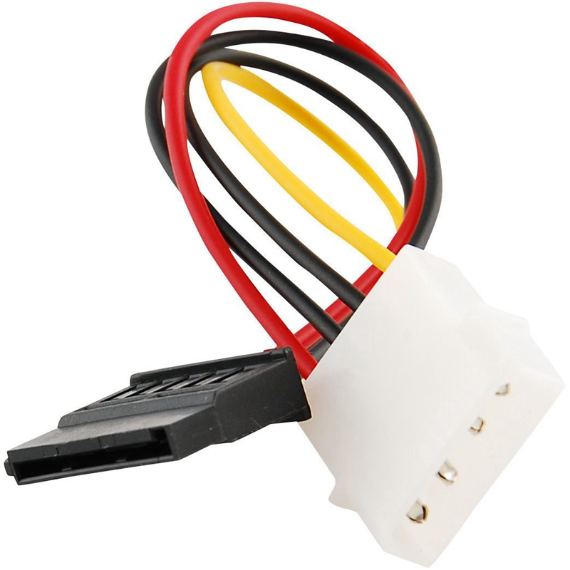 IDE/<font><b>Molex</b></font>/IP4/<font><b>4</b></font>-<font><b>pin</b></font> zu <font><b>SATA</b></font> Power 15-<font><b>pin</b></font> Stecker Konverter Adapter Kabel image