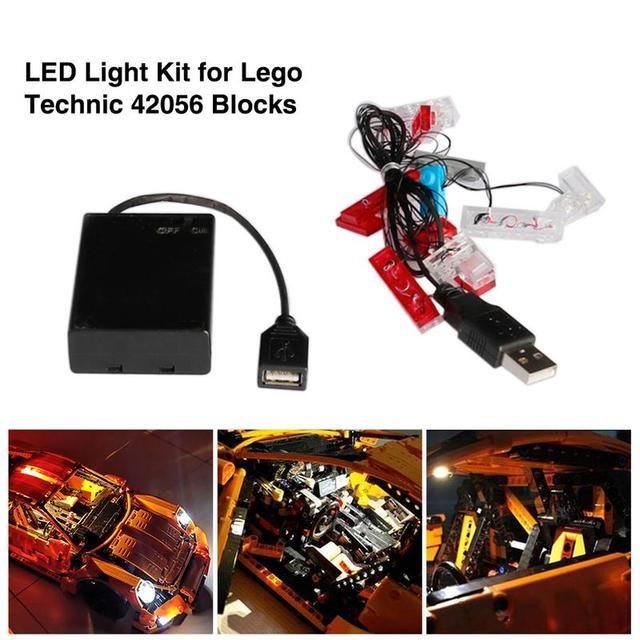 Piezas Juguetes Para 42056 Porsche Iluminación Modelos Kit 911 Gt3 De Led Rs Construcción Diy Bloques Lego HIYe2WED9b