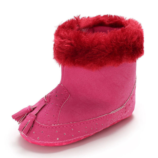 2019 0-12M Tassel warm Baby Girl Boy boots Snow Boots Winter Warm Booties Infant Toddler Newborn Crib Shoes Fashion Style 2