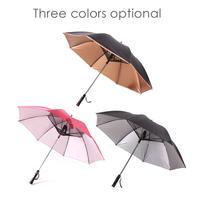 Umbrella With Fan USB Long Handle Sun Proof Umbrella UV Protection Sun Umbrella With Fan Cool Umbrella