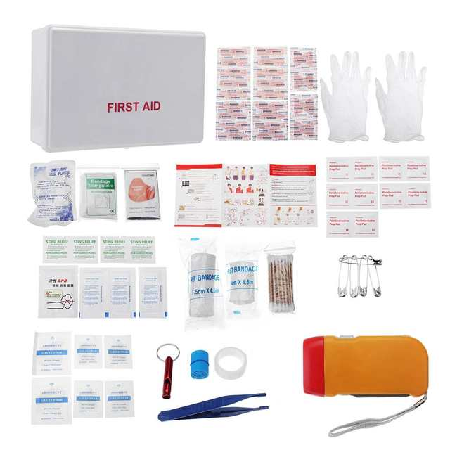Survival Kit Travel First Aid Emergency Outdoor Trauma Medical Bag SOS Tool Kit Lightweight Versatile Portable Practical Aid