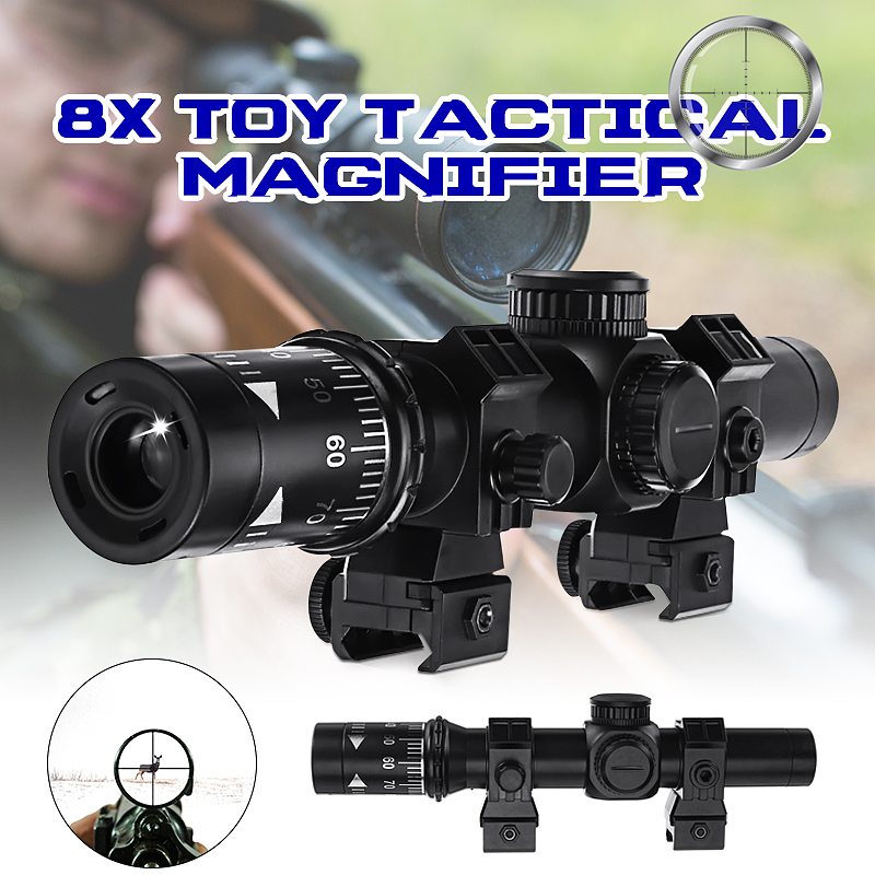 8X Red Dot Sight Tactical Magnifier Scope Primary Hunting For Gel Ball 8X Sight