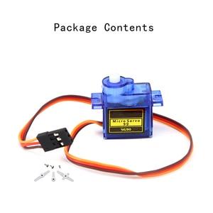 Image 3 - Высокое качество Мини SG90 шестерни микро мотор для вертолет, самолет с радиоуправлением синий или оранжевый SG90 Мини Мотор
