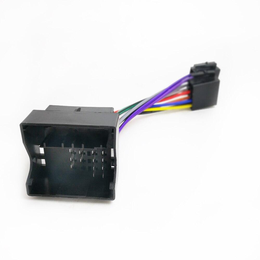 Biurlink rádio estéreo do carro conector iso cablagem cabo adaptador para opel corsa meriva movano vivaro zafira para vauxhall